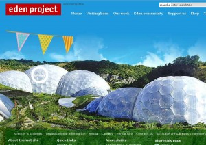 Eden project in Cornwall, England setting up community group