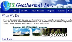 US Geothermal reports increase in revenues and updates on development