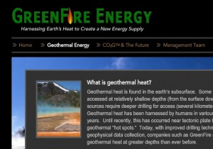 GreenFire Energy Making Headway on CO2-Based Plant