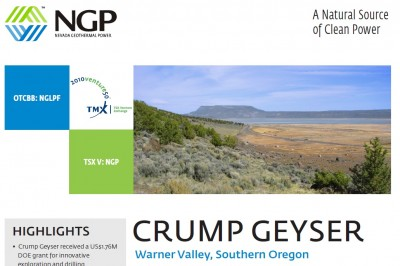 Nevada Geothermal Power and Ormat team up for Crump Geyser, Oregon