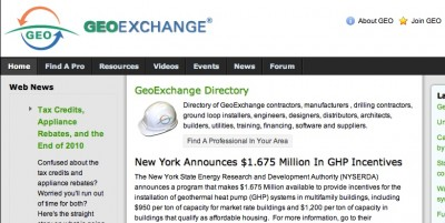 Geothermal Exchange Organization, voice for US Geothermal Heating and Cooling Industry