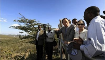 UN Secretary-General Ban Ki-moon fascinated by geothermal drive in Kenya