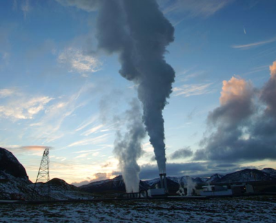 CCTV on carbon capture and storage at Icelandic geothermal plant