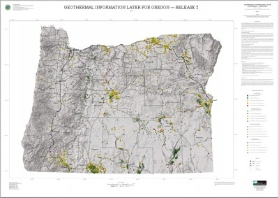 New map showing geothermal resources in Oregon, U.S.