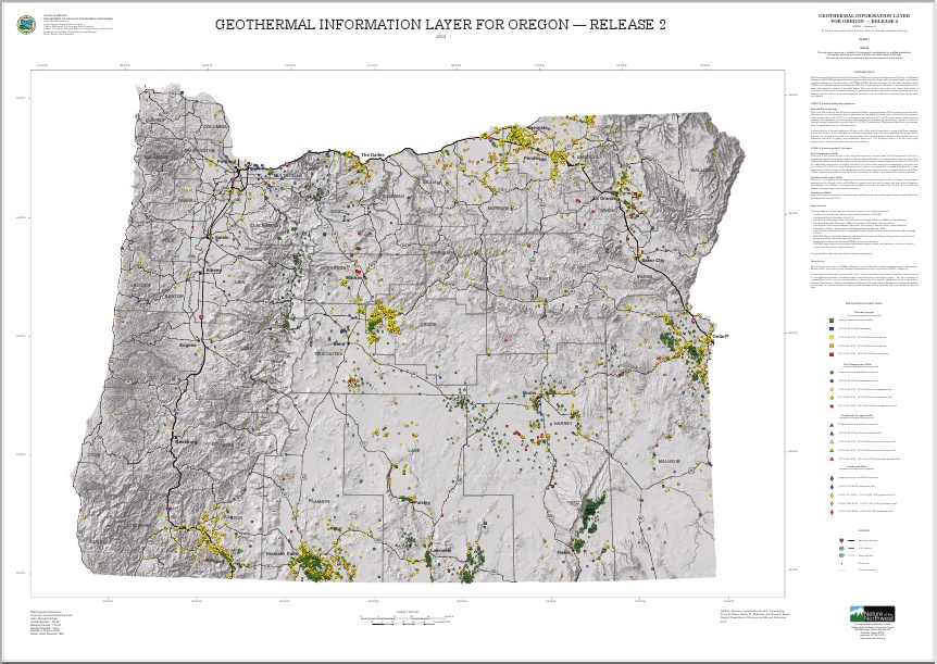 New Map Showing Geothermal Resources In Oregon Us Think - Geothermal-map-of-the-us