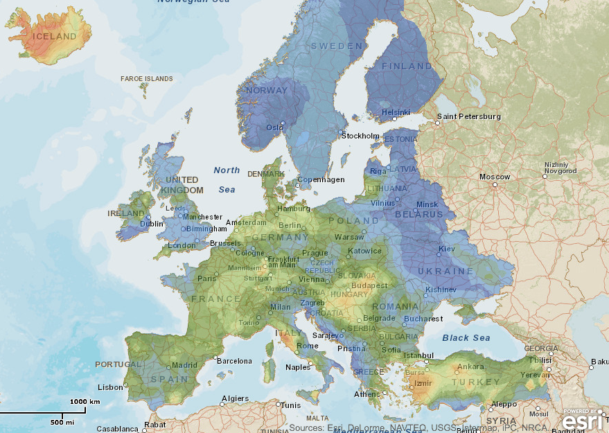 Resources Map Of Europe.Geolec Releases Gis For European Geothermal Resources Think