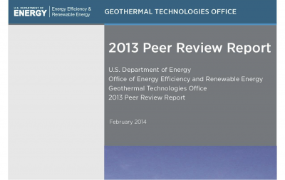 U.S. DOE publishes peer review report on geothermal activities