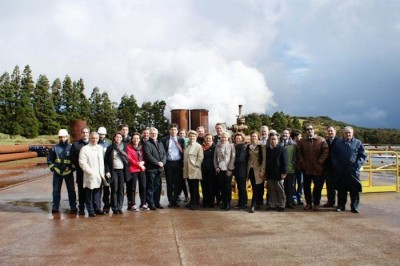 Icelandic geothermal delegation on visit to the Azores
