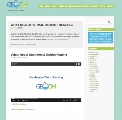 What is Geothermal District Heating – An introduction