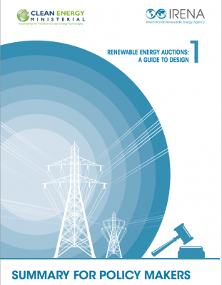 IRENA releases Best-Practice Guide on renewable energy auctions
