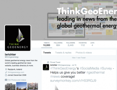 10,000 Tweets of ThinkGeoEnergy, accomplishment or challenge of social media?