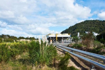 Paper production with geothermal energy in New Zealand