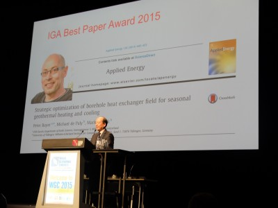 IGA announces winners of 2015 Geothermal Research Awards