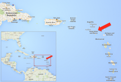 Saint Kitts And Nevis Or How To Islands Compete On Geothermal - Saint kitts and nevis map