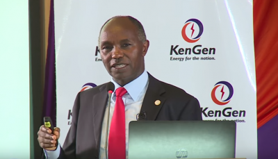 Mindspeak presentation by KenGen MD & CEO Albert Mugo, Kenya