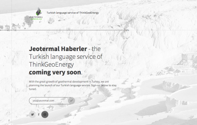 Jeotermal Haberler – new Turkish language service being prepared by ThinkGeoEnergy