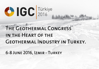 2 weeks to go – IGC Türkiye – Izmir Geothermal Congress, 6-8 June 2016