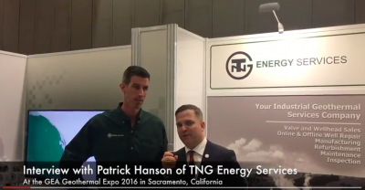 Interview: Patrick Hanson, Direct of Sales & Marketing, TNG Energy Services