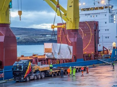 45 MW, 134 tonnes geothermal turbine of Fuji Electric arriving for Theistareykir project, Iceland