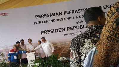 President Joko Widodo of Indonesia inaugurates three geothermal plants by Pertamina Geothermal Energy