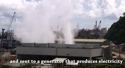 Video: geothermal energy production on Lihir Island, Papua New Guinea