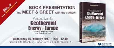 Launch of Book on Perspectives for Geothermal Energy in Europe by R. Bertani