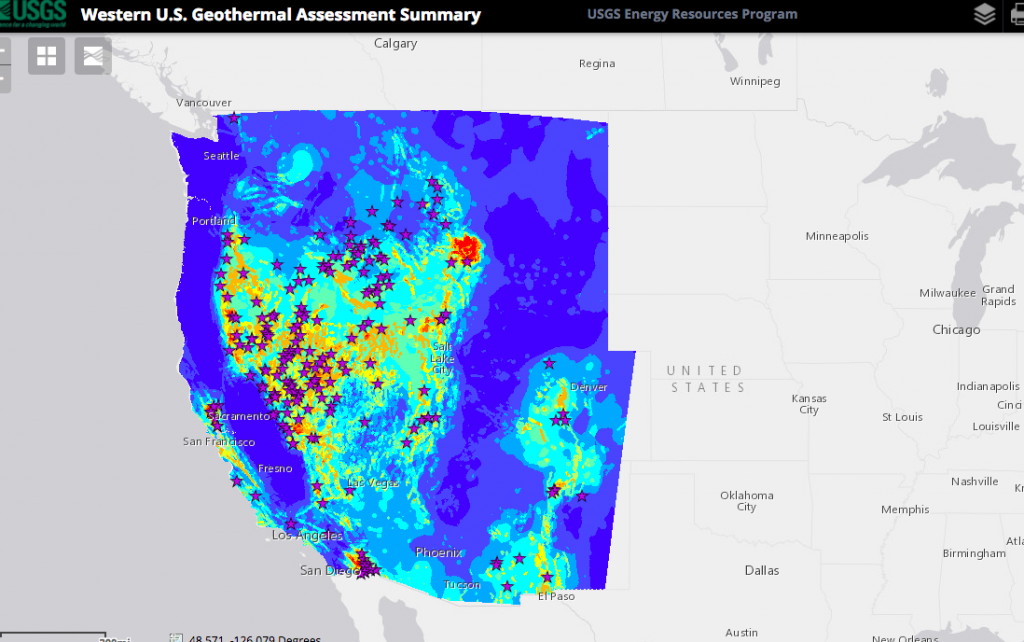 Great Interactive Map Showing Geothermal Resources In The Western - Geothermal map of the us