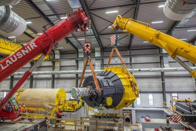 Pictures: Fuji Electric turbines being set up at Theistareykir geothermal plant