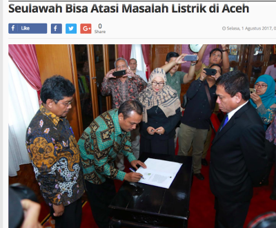 Aceh and Pertamina sign JV agreement on Seulawah geothermal project