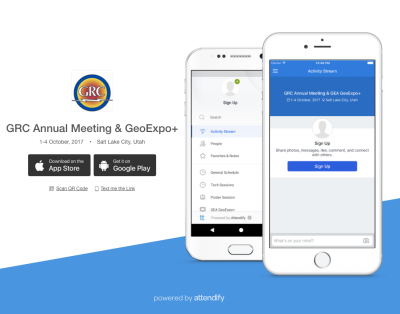 GRC Annual Meeting and GEA GeoExpo+ – Event App Now Available