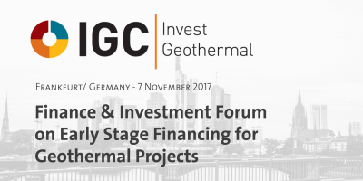 IGC Invest Geothermal – Geothermal Finance & Investment Forum, Nov 7, 2017