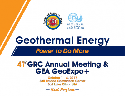 Final program released for GRC Annual Meeting and GEA GeoExpo+