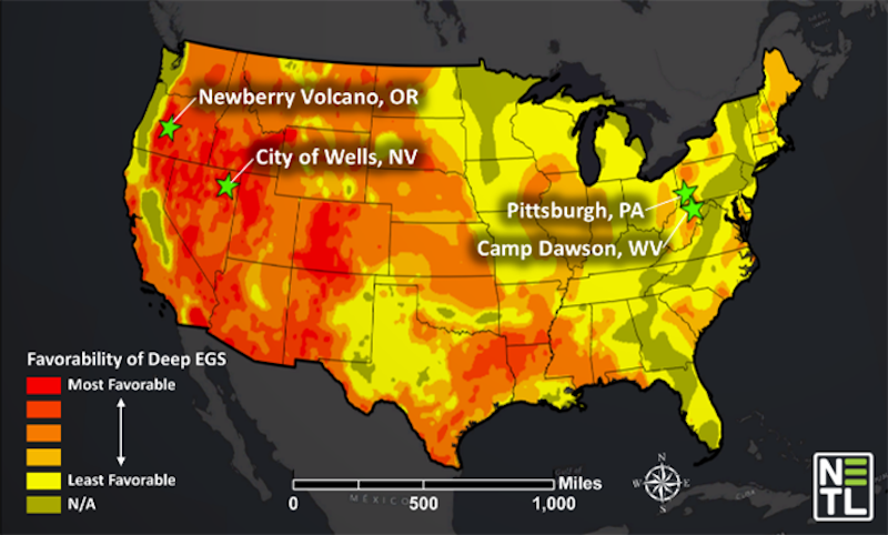 Underground Modelling Exploring Geothermal Hot Spots In The Us - Geothermal-map-of-the-us