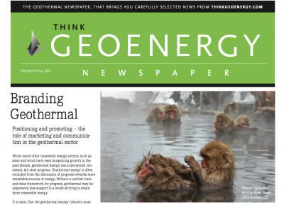 Geothermal news on paper – the Think GEOENERGY Newspaper
