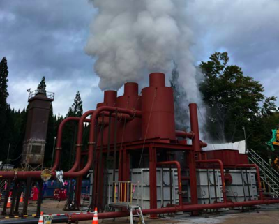 Flow-tests conducted on exploration well for geothermal project in Akita, Japan