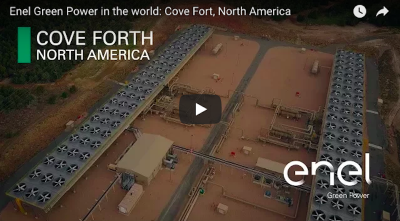 Video: an overview on the Cove Fort geothermal power plant in Utah