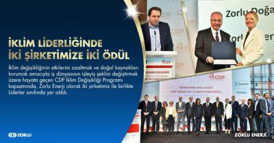 Zorlu Energy Group awarded CDP Turkey Climate Leadership Award