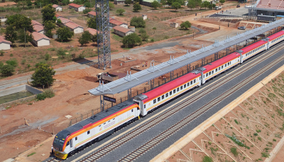 Geothermal power to power train connection between Mombasa and Nairobi, Kenya