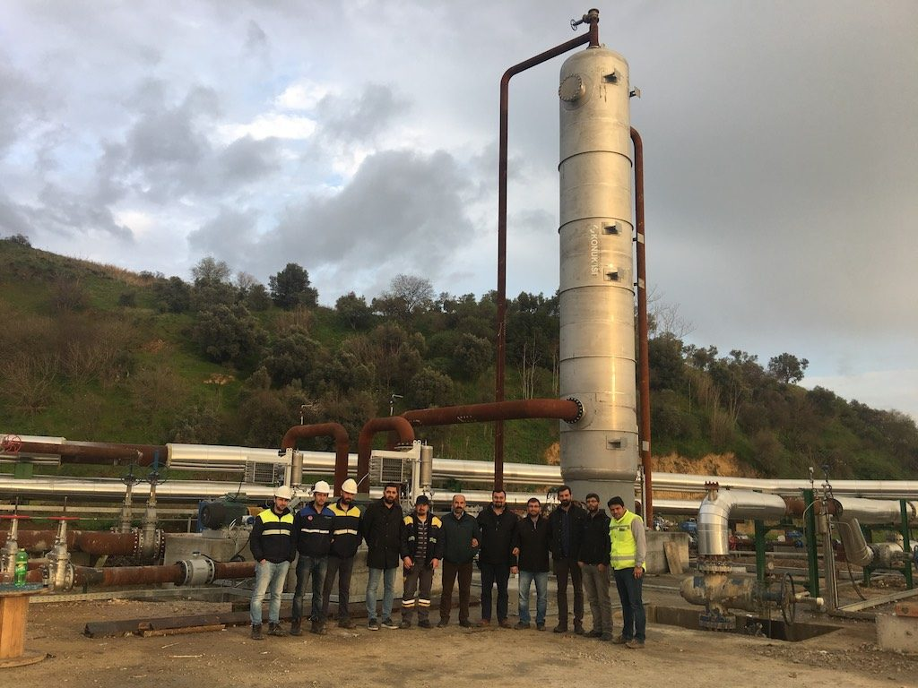 Direct contact steam condenser commissioned for Kubilay geothermal plant, Turkey | Think GeoEnergy - Geothermal Energy News