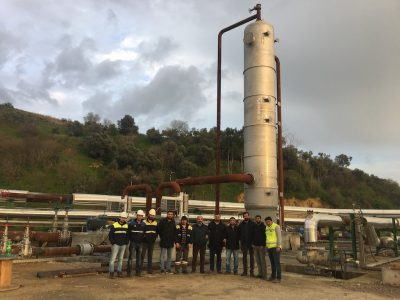 Direct contact steam condenser commissioned for Kubilay geothermal plant, Turkey