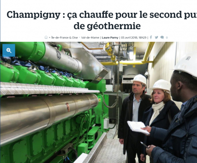 Geothermal heating project at Champigny/ France plans 2nd well and network extension