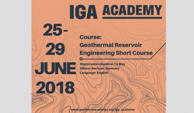 IGA Academy: Geothermal Reservoir Engineering Short Course, June 25-29, 2018