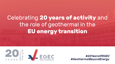 Celebrating 20 years, EGEC shares declaration on the great role of geothermal energy