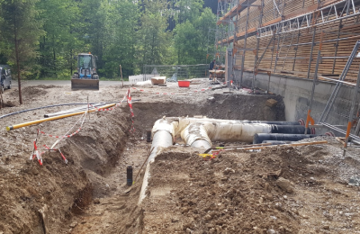 Construction progressing at combined geothermal heat and power plant in Holzkirchen, Germany