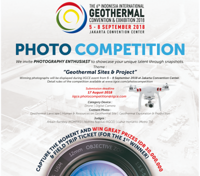 Indonesia – Geothermal Photo Competition 2018 – Great Price IDR 30,000,000