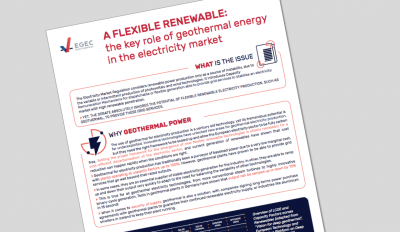 EGEC highlights flexibility of geothermal in European electricity market