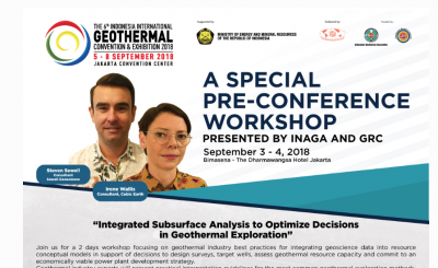 IIGCE, Jakarta – Pre-conference workshop on optimizing decisions in geothermal exploration
