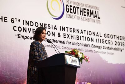 Indonesian Minister of Finance highlights great role of geothermal for Indonesia