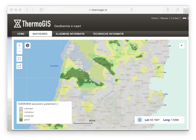 TNO in the Netherlands releases new version of web-based ThermoGIS