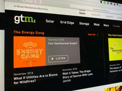 "Podcast – The Energy Gang on the question of ""Can Geothermal Scale?"""